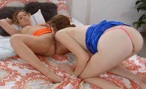 Sexo gostoso entre duas lésbicas novinhas gostosas